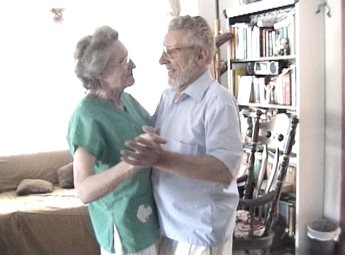 A still from the video of my grandparents dancing.